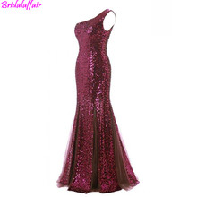 Sequined Party Dresses Beading Sexy Elegant Mermaid Evening Dress Formal Women suknie wieczorowe