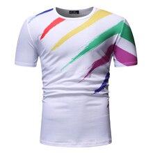 DropshippingNew mens personalized print casual short-sleeved T-shirt