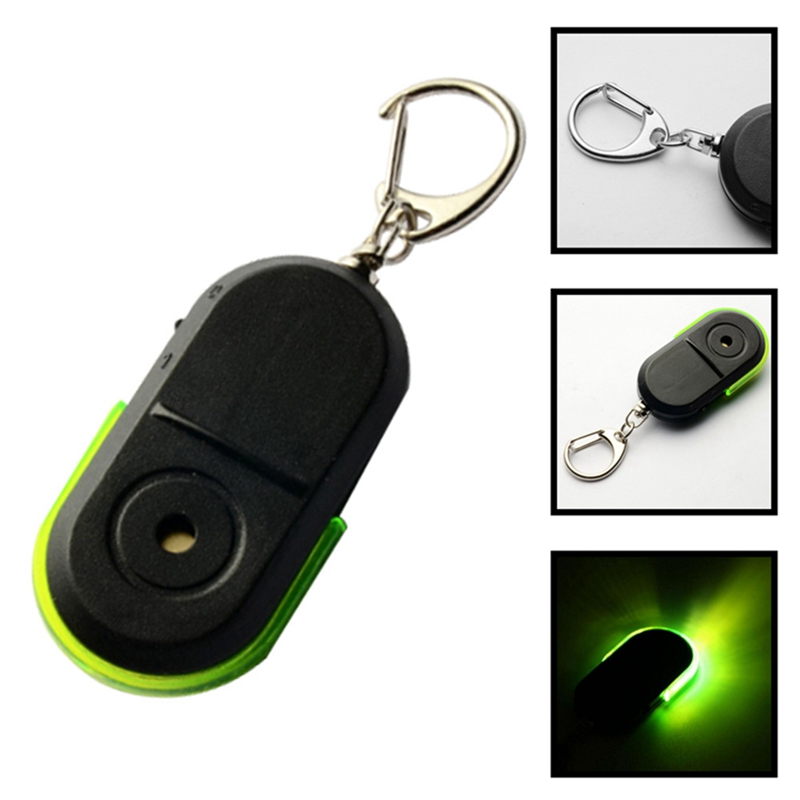 Security & Protection Anti-lost Alarm Whistle Sound Led Light Anti-lost Alarm Key Finder Locator Keychain Device Random Color