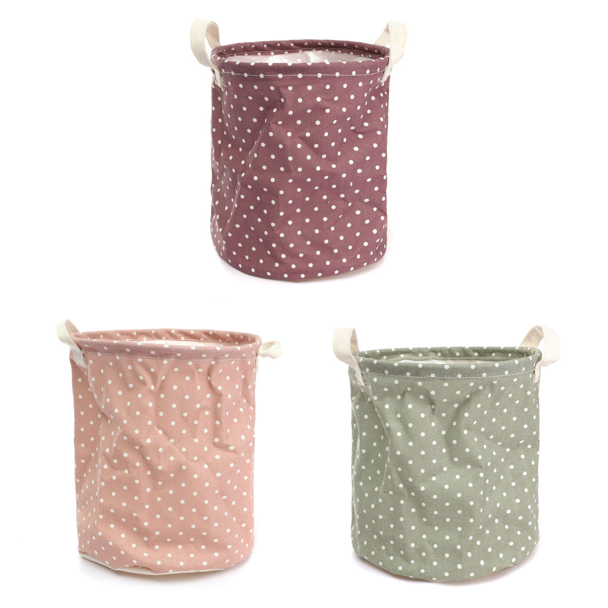 Dirty Laundry Baskets Us 3 8 Wave Dot Dirty Clothes Washing Laundry Basket Cotton Linen Bag Storage Bucket Laundry Barrels Home Fitting 3 Color In Laundry Bags Baskets