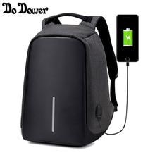 15 дюйм(ов) Многофункциональный USB зарядки Для мужчин ноутбука Рюкзаки для подростков Модные мужские Mochila путешествия рюкзак анти-вор рюкзак