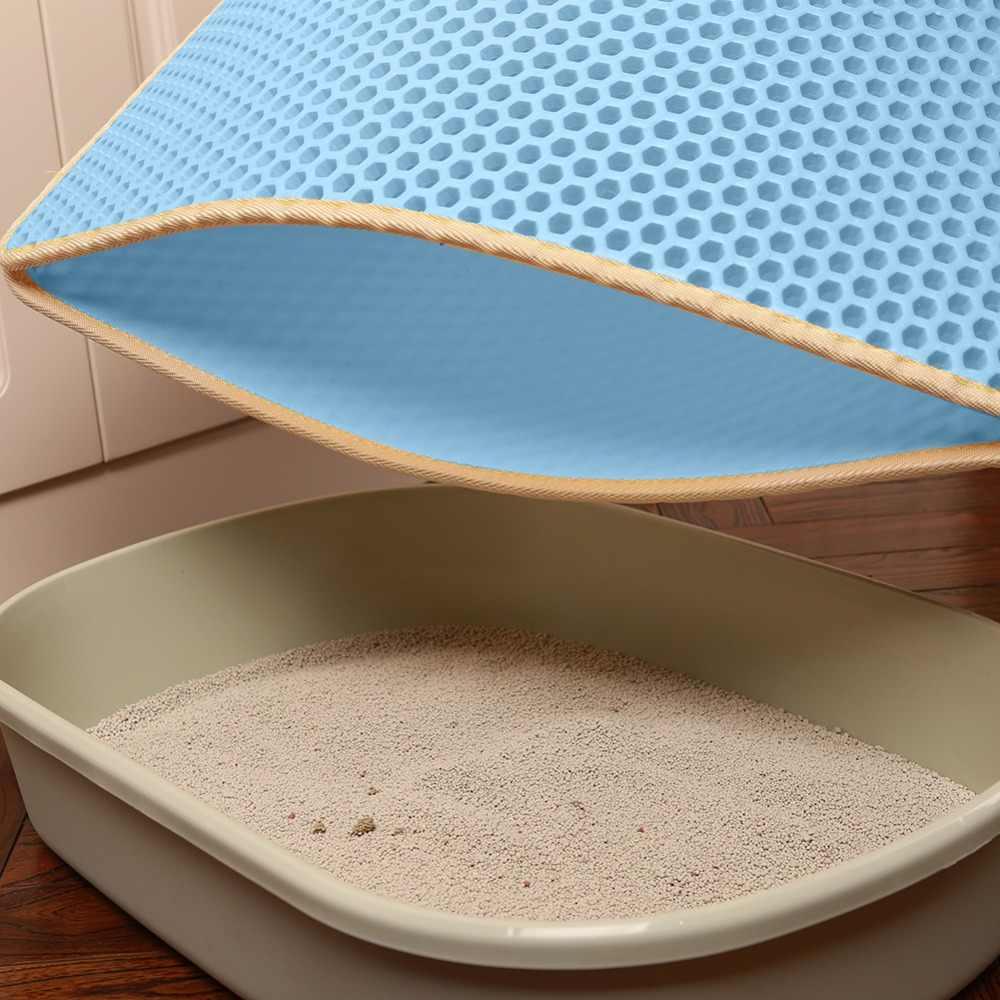 Складной кошачий Коврик Для Мусора водонепроницаемый сотовый просеивающий коврик защита для пола ковер экологичный EVA пенопластовый коврик для мусора