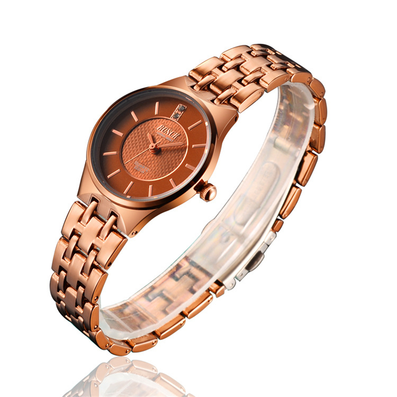 Women Fashion Leather Band Analog Quartz Round Wrist Watch Watches relogio feminino clock pu leather band women s quartz analog wrist watch yellow