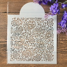 "Buy 15cm 5.9"" Flourish DIY Layering Stencils Wall Painting Scrapbook Coloring Embossing Album Decorative Paper Card Template directly from merchant!"