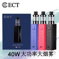 100% Genuine ECT 40W Starter Kit 2200mah e cigarettes 18650 battery mox mod vape Electronic Cigarette Vaporizer