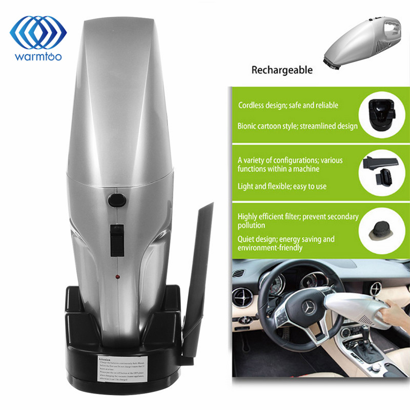 220V EU Plug Rechargeable Car Cordless Handheld Vacuum Pet Hair Cleaner Portable Dust Buster For Car Home Office