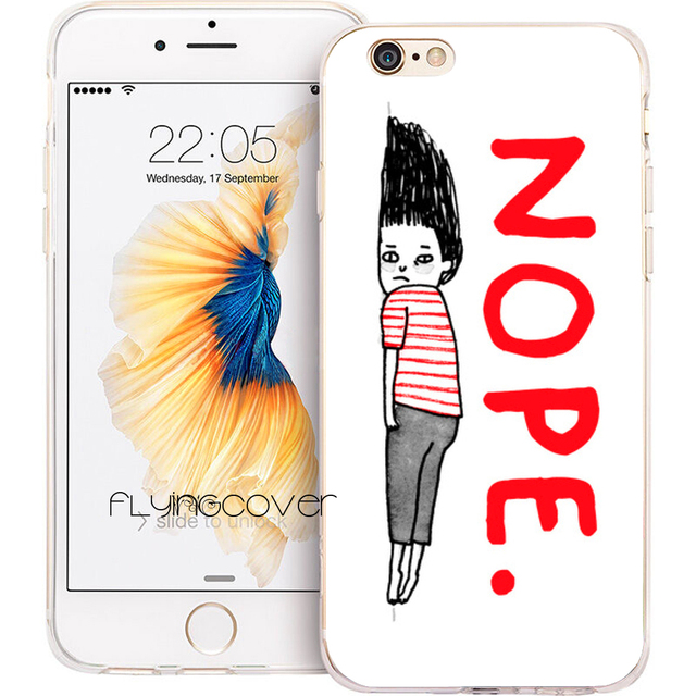 Coque Tumblr Nope Quotes Clear Soft Silicone Phone Cases For Iphone