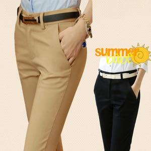 Image 3 - קוריאני אופנה מכנסיים נשים אביב חמוד 20 סוכריות צבעים מכנסי עיפרון אלגנטי בסיסי למתוח גדול גודל אמא מכנסיים חותלות מכנסיים