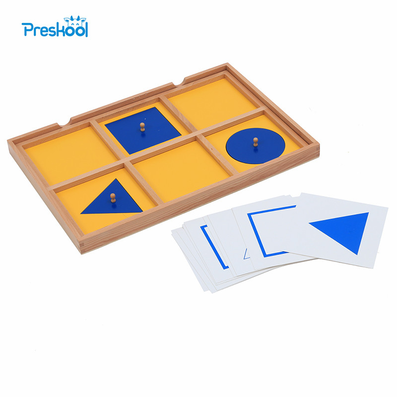 Baby Toy Montessori Six Case Cabinet Wood Geometric Demonstration Tray Early Childhood Education Preschool Brinquedos Juguetes montessori materials paper for geometric inlay steel boards beech wood math toys early education toy can smarter freee shipping