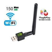 USB WiFi adaptateur Ralink Wi Fi antenne Lan USB Ethernet 150M 2dB PC WiFi Dongle sans fil bloc notes carte USB Wi Fi récepteur