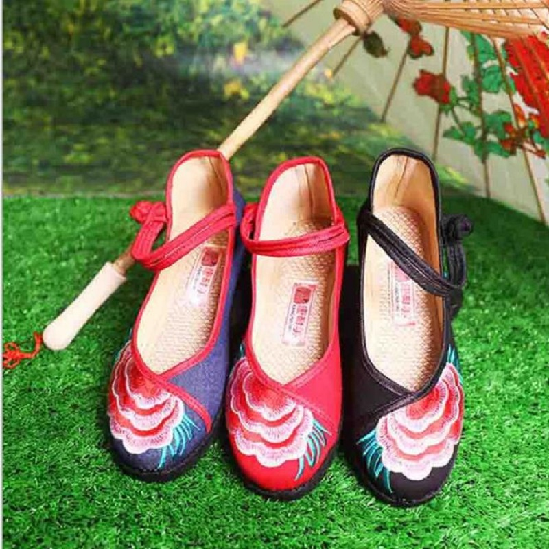 NICBUY 8 color hudiejie 2018 fashion Hot sale children princess shoes girls party bow shoes Solid color Old Beijing cloth shoes
