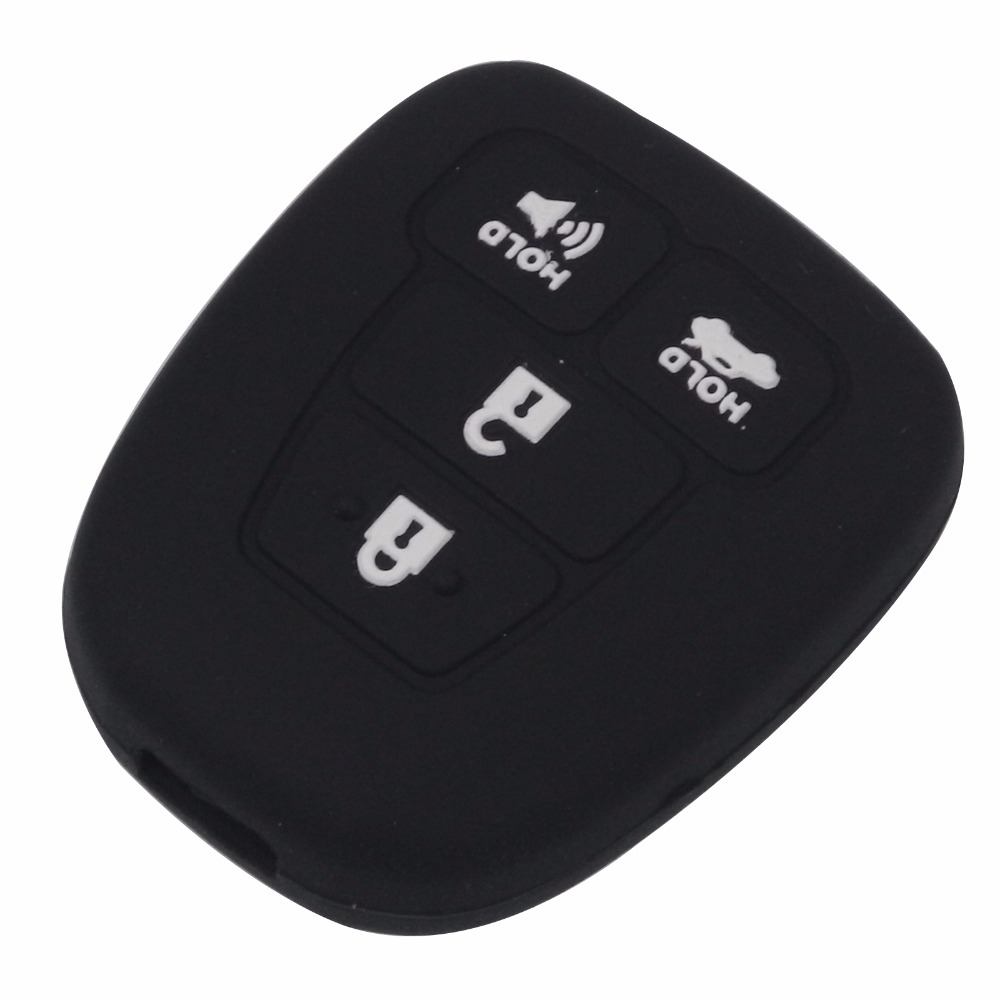 For Toyota RAV-4 / Highlander / Corolla / Camry 4 Buttons Car Key Fob Silicone Rubber Cover Holder Protect