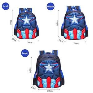 Image 3 - Childrens Backpack Boys Captain America School Bags For Boys Girls Children Primary Students Superhero Backpacks 4 Styles