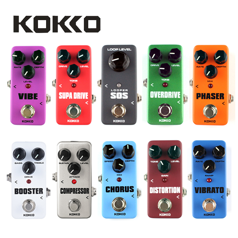 KOKKO Mini Pedal Portable Guitar Effect Pedal Overdrive,Timer,SOS,Booster,Supa Drive,Distortion,Chorus,Space,Vibrato,Compressor