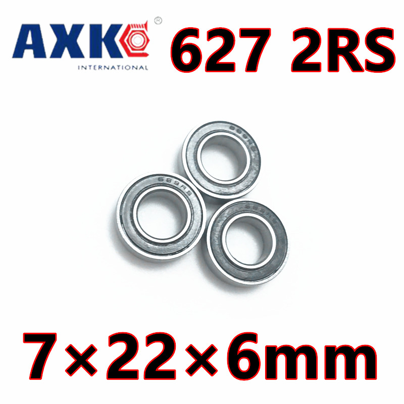 627RS Bearing ABEC-5 (10PCS) 7*22*6 mm Miniature Sealed 627-2RS Ball Bearings 627 2RS