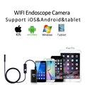 2017 hd720p wifi iphone endoscópio usb cobra câmera lente de 8mm 5 m 3.5 M 2 M 1 M Android Tablet PC Câmera de Tubo de Inspeção Endoscópio USB