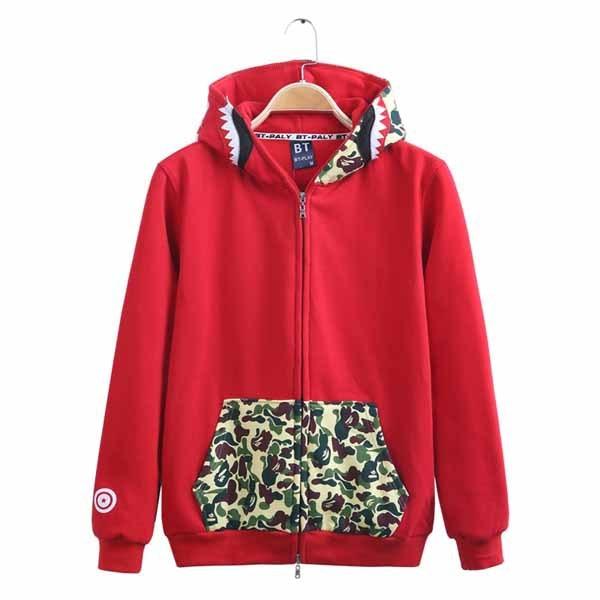 2cc186eccee0 jaqueta masculina Brand bape shark hoodie men swag AAPE camouflage bape  jackets hip hop skateboard zip camo bape men sweatshirts