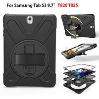 Tablet Case Cho Samsung Galaxy Tab S3 9.7 SM-T820 T825 bìa Funda Trẻ Em An Toàn Chống Sốc Heavy Duty Silicone Tay Cứng ch