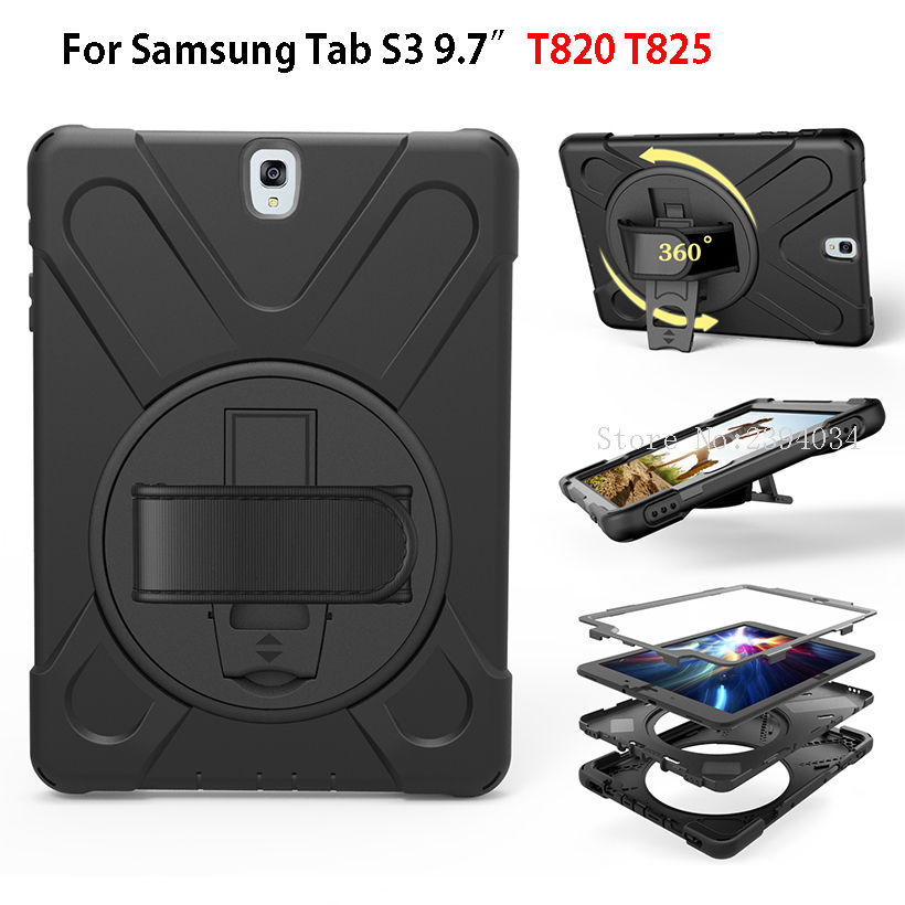 Tablet Case For Samsung Galaxy Tab S3 9.7 SM-T820 T825 Cover Funda Kids Safe Shockproof Heavy Duty Silicone Hard Hand Holder наталья патрацкая малахитовые маги проза
