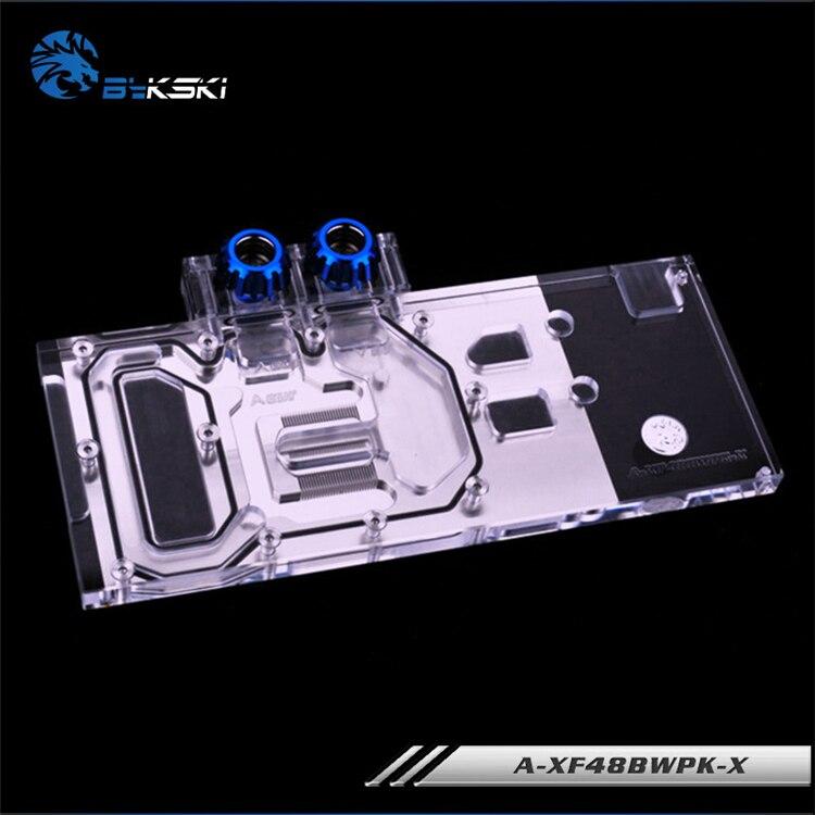 Bykski Full Cover Graphics Card Block use for XFX-Radeon-RX-480-GTR-8GB-GDDR5/ RX580 GTS XXX Edition Copper Radiator Water Block