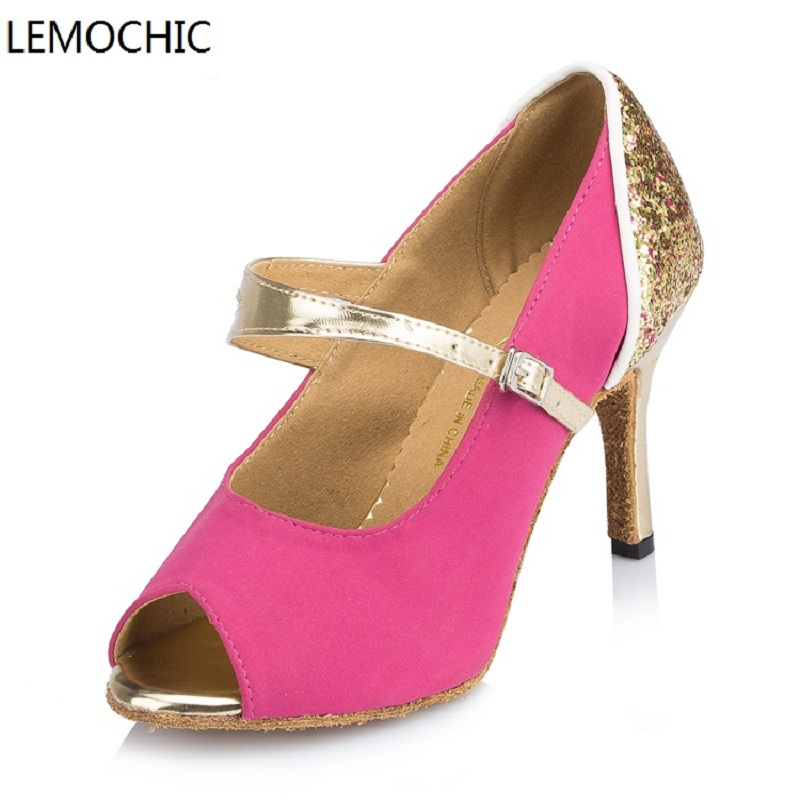 LEMOCHIC lady ballroom latin jazz belly cha-cha dancing ballroom samba rumba pole salsa tango arena dance shoes low price