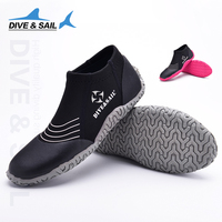 Dive Sail New 3mm Low Boots Non Slip Shoes Surf Beach Diving Snorkeling And Swimming Shoes