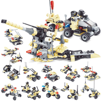 12 in 1 3D blocks Military blocks toys helicopter tank model building chariot car war The aircraft carriers building boat toys