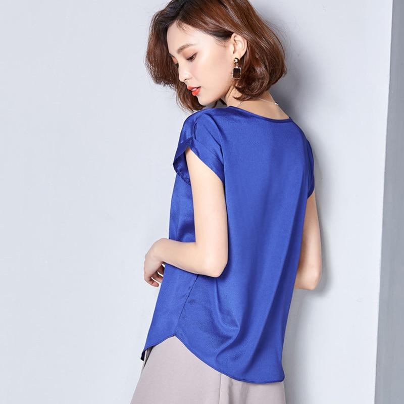 Womens Tshirt 2019 Summer Korean Vogue Soft T Shirt Women Plus Size Chiffon Tops Short Sleeve O Neck Breathable Tee Shirt Femme in T Shirts from Women 39 s Clothing