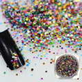 Hot Fashion 2g Shining Color Acrylic Nail Art Thin Paillette Tips Decoration Mini Round Nail Art Tool Nail Glitters Y06