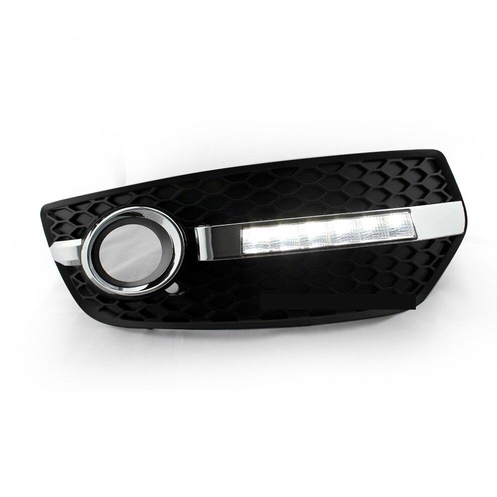 ФОТО 2 pcs/lot Car Accessories Led Lamp For Audi Q5 2010-2012 Hot Good Quality Daytime Running Lights 12v 10W Car Led Freeshipping.