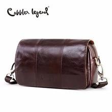 Cobbler Legend 2019 High Quality New Fashion Womens Shoulder Messenger Bags Genuine Leather CorssBody Bag Retro Satchels 10311