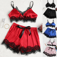 3 Set\lot Sexy Lingerie Babydoll Sex Underwear Sexy Costumes Summer Beach Fashion Erotic Women Porno Pajamas Lace Solid Bra Set