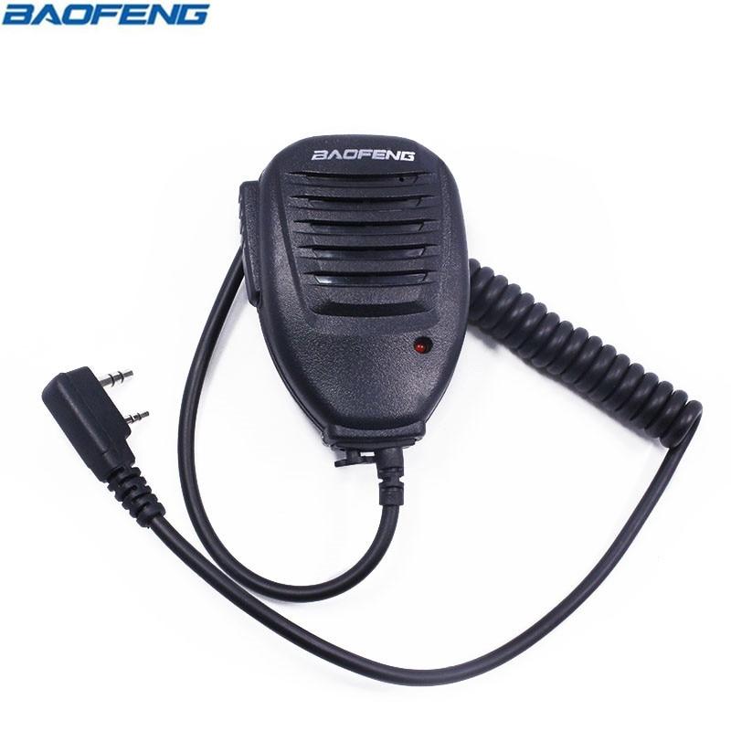 2PCS Baofeng Two Way Radio Walkie Talkie Handheld Microphone Speaker MIC for UV-5R Pofung UV 5R UV-B5 UV-B6 BF-888S BF-666S GT-3 refletor fq led