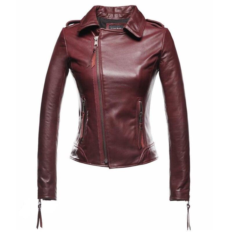 NewBang Red Leather Jacket Women Motorcycle Genuine Leather Jacket Short  Women's Sheepskin Coat Real Leather Bomber Jackets