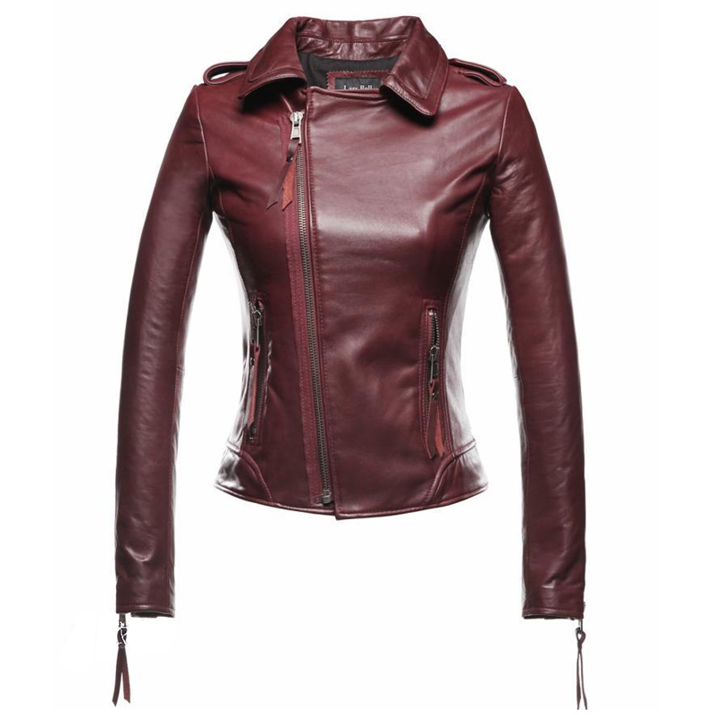 Aliexpress.com : Buy 2016 Dark Red Leather Jacket Women Motorcycle ...
