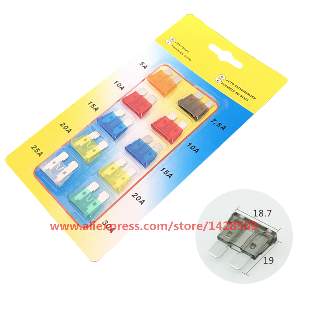 10pcs 19mm Ford Focus Mondeo Dodge Jeep Auto Automotive Car Boat 2013 Fuse Box Truckcar Medium Blade 5a 75a 10a 15a 20a 25a 30a In Fuses From Home Improvement