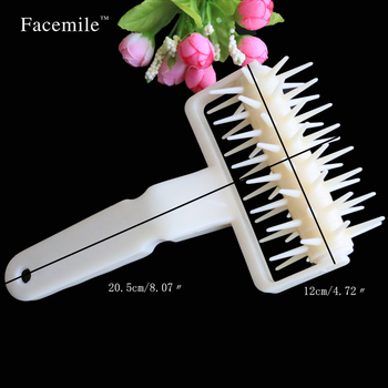 Plastic Baking Tools Pizza Cookies Dough Roller Pastry Pie Needle Wheels Cutter Sewing Machine Cake Bread Hole Punch