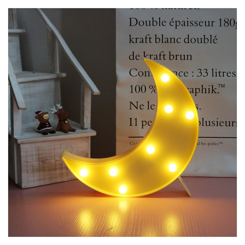 Lovely Moon LED Night Lights Warm White 8les Lights for Kids Children Sweet Nursery Room Decorations