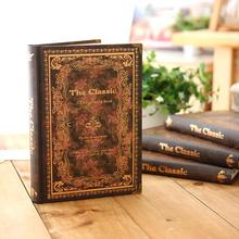 Vintage Deluxe 1pc Luxury Hard Cover Notebook Classical Journal Lined Papers Planner Diary Study Working Gift