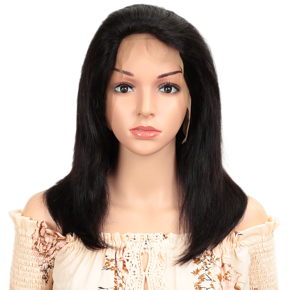 13x4 Short Lace Front Human Hair Wigs Remy Lace Frontal Wig For Africa Market Brazilian Hair Bob Wig For Black Women