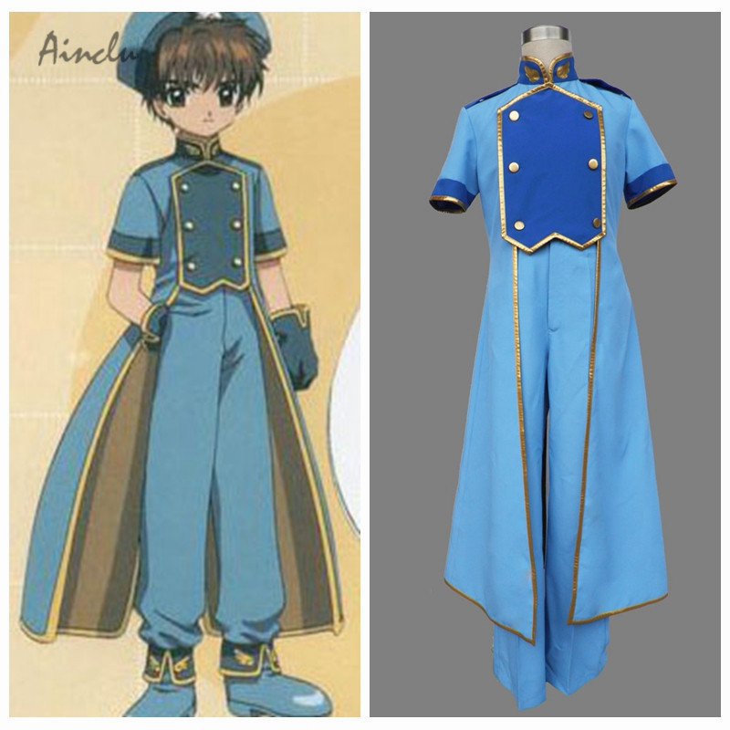 Ainclu Customize for adults Hot Adult Halloween Costumes Cardcaptor Sakura Anime Ri Syaoran Halloween Cosplay Costume Costume