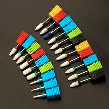 """Керамический сверло для ногтей пилка для ногтей 3/3"""" резак для электрического маникюрного станка инструмент для дизайна ногтей аксессуары для ногтей"""