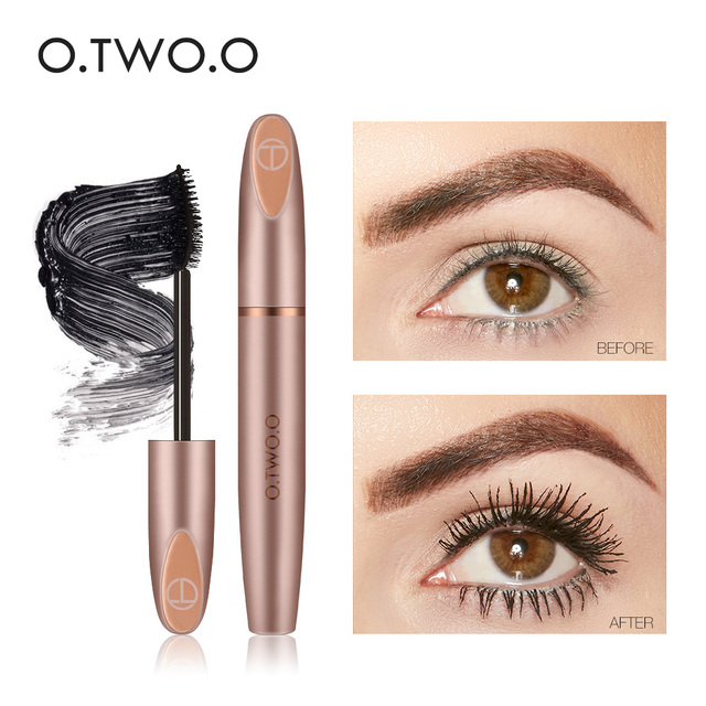 Ooo 3d Silk Fiber Black Eyelash Mascara Extension Waterproof