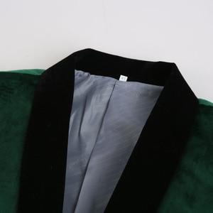 Image 2 - PYJTRL גברים של ירוק סגול ורוד כחול זהב אדום שחור קטיפה אופנה חליפת מעיל חתונה חתן שלב זינגר לנשף Slim fit טרייל