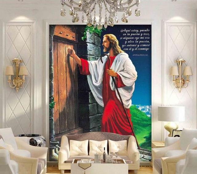 Photo Wall Mural Customize Hd Jesus Wallpapers For Living Room 3d
