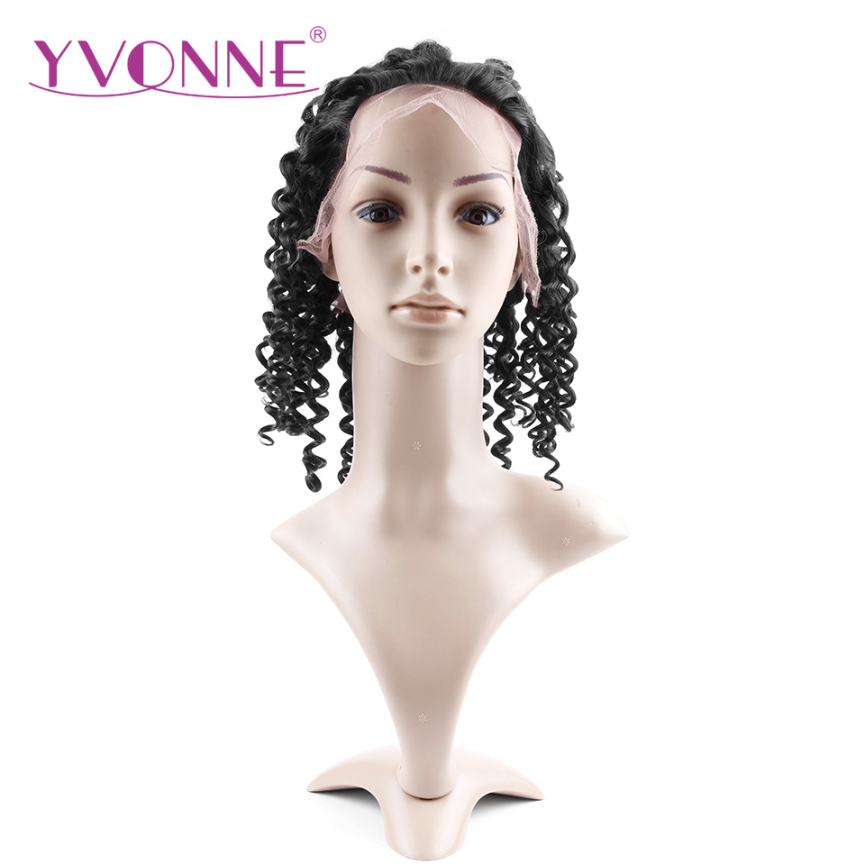 YVONNE Brazilian Deep Wave Virgin font b Hair b font Lace Front Wigs font b Human