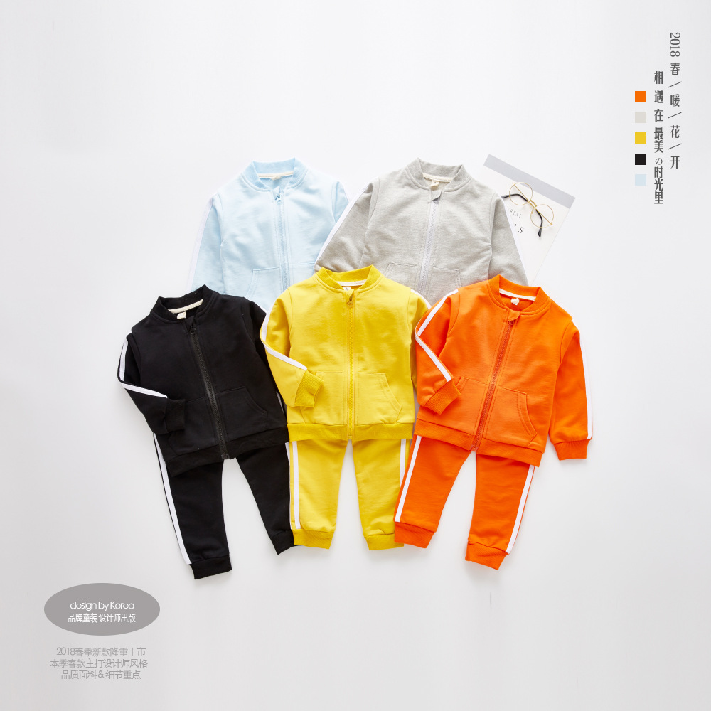 Children Boys Clothing Sets Baby Girls Zipper Coat Top + Pants Spring Autumn Set Toddler Kids Tracksuit Clothes Sport Suit Set