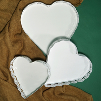 white heart cupcake stand dessert metal tray wedding Candy snack tray tools table decoration party supplier bakeware SNTP019
