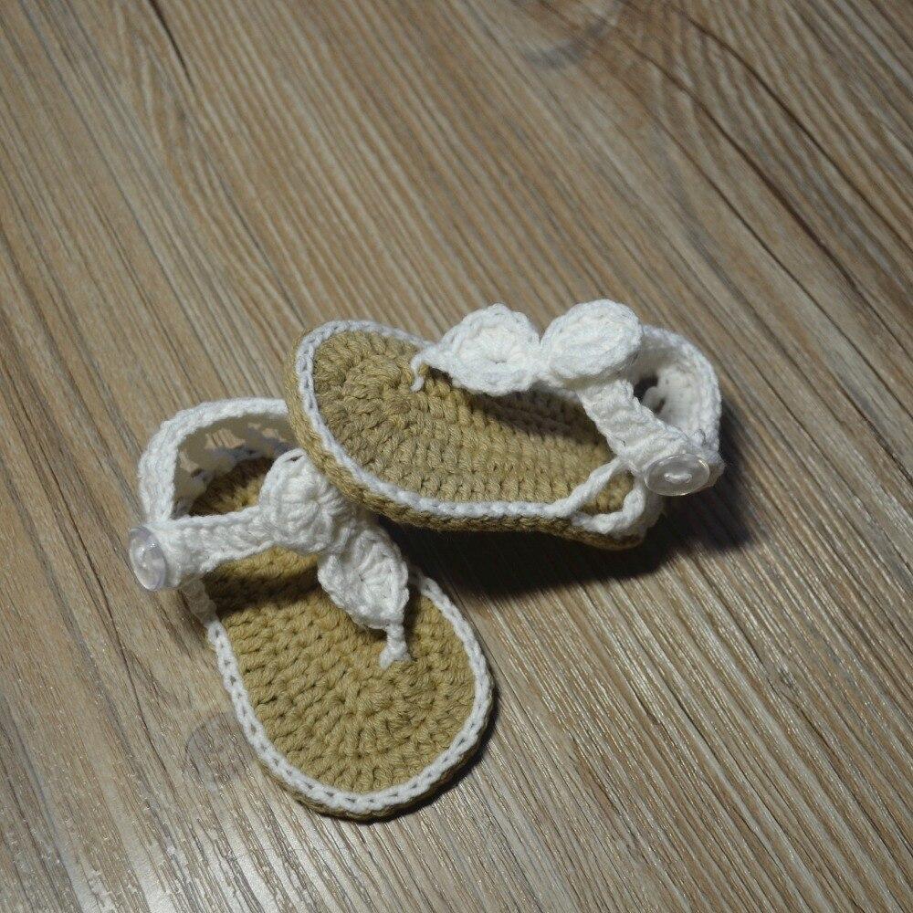 QYFLYXUE-Freeshipping dziecko Crochet shoes, noworodka rozmiar 0-12 M - Buty dziecięce - Zdjęcie 3