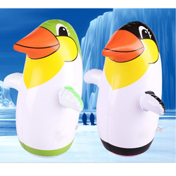 Juguete inflable pingüino delfín pingüino vaso niños Pinguino inflable globo Animal 36 CM juguetes educativos cognitivos